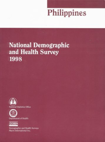 National Demographic and Health Survey 1998 - Measure DHS