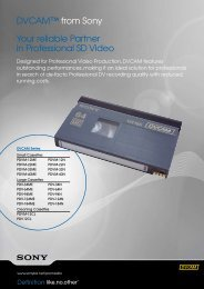 DVCAM™ from Sony Your reliable Partner in Professional ... - Syntex