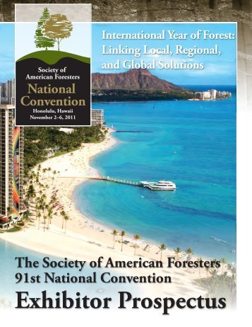 Exhibitor Prospectus - Society of American Foresters