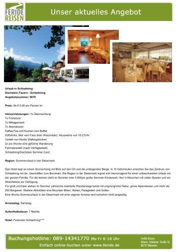 Urlaub in Schladming - Eventreisen - Trierischer Volksfreund