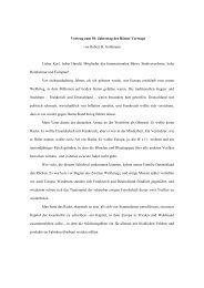 Vortrag von Robert Goldmann zur Verleihung des ... - Reinheim