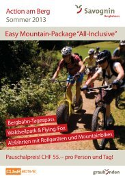 """Easy Mountain-Package """"All-Inclusive"""" - Savognin"""