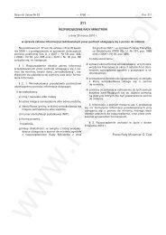Rozporządzenie Rady Ministrów z dnia 29 marca 2010 r. w sprawie ...