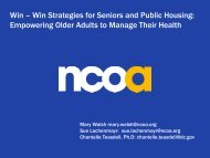 Win – Win Strategies for Seniors and Public Housing: Empowering ...