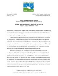 Animal Welfare Approved Program Announces Formation of Poultry ...