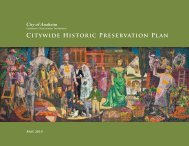 Citywide Historic Preservation Plan - City of Anaheim