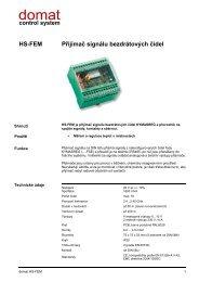 HS-FEM Přijímač signálu bezdrátových čidel