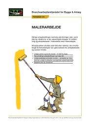 Faktablad om malerarbejde - BAR Bygge & Anlæg