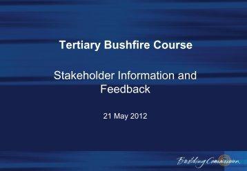 Tertiary Bushfire Course