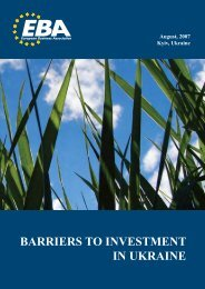 Barriers to Investment in Ukraine - US-Ukraine Business Council