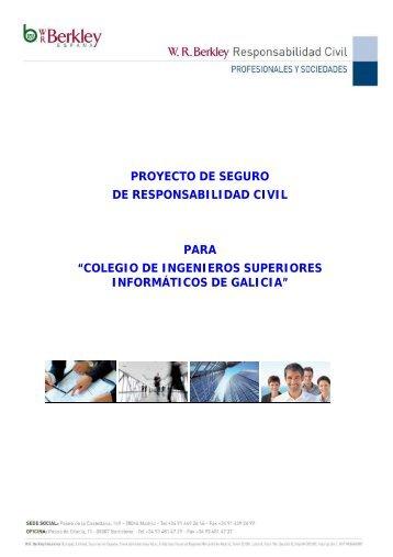 proyecto de seguro de responsabilidad civil para - Colexio ...