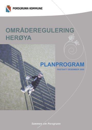 Planprogram fastsatt desember 2009 - Porsgrunn Kommune