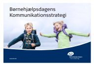 BHD_Kommunikationsstrategi_juli_... - Børnehjælpsdagen