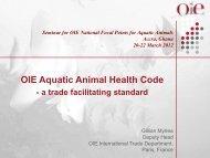 OIE Aquatic Animal Health Code - a trade facilitating ... - OIE Africa