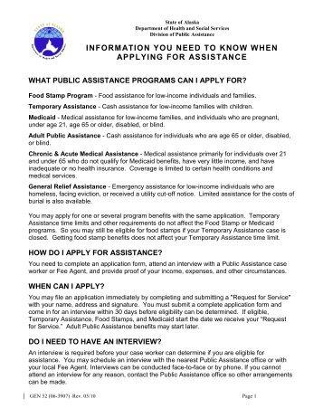 Gen 52 - DPAweb - Alaska Department of Health and Social Services