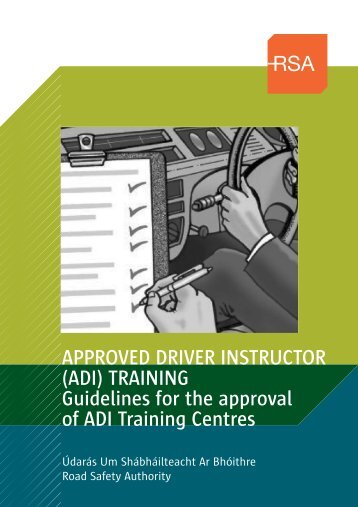 Guidelines for Approval of ADI Training Centres (PDF) - RSA.ie