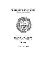 Physical Education - Groton Public Schools