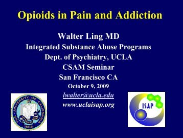 Opioids in Pain and Addiction