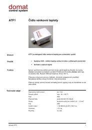 ATF1 Čidlo venkovní teploty