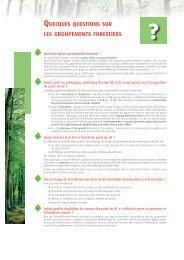 quelques questions sur les groupements forestiers - Haussmann ...
