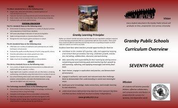 7 th Grade Pamphlet - Granby Public Schools