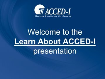 to learn more about ACCED-I