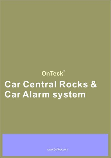 CAR alarm,central locks 2008+.cdr - OnTeck
