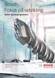 Bosch: Fokus på udvikling.