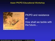 GSK-Taiwan PK-PD workshop : PK-PD and resistance