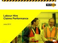 Labour Hire Claims Performance - RCSA