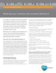 Modernize your mainframe with innovative Workbench