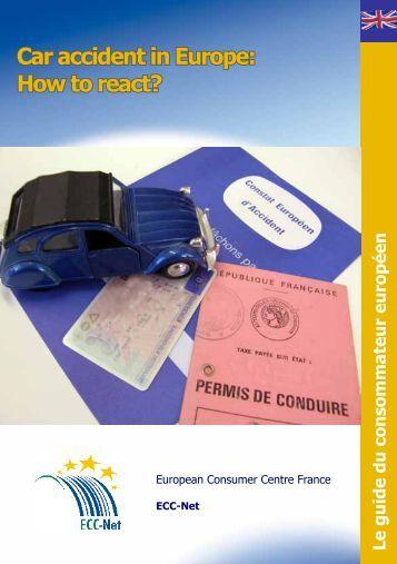 Car accident in Europe - Centre Européen de la Consommation