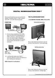 DIGITAL INOMHUSANTENN DVB-T - Biltema