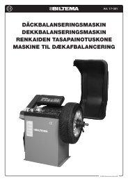 Däckbalanseringsmaskin Dekkbalanseringsmaskin ... - Biltema