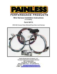 Wire Harness Installation Instructions - Painless Performance