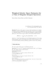 Weighted Sobolev Space Estimates for a Class of Singular Integral ...
