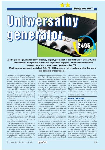Uniwersalny generator (712KB) - Elportal