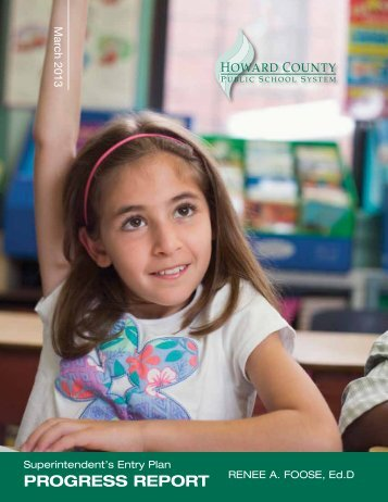 Entry Plan Progress Report - Howard County Public Schools