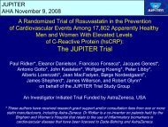 The JUPITER Trial - Brigham and Women's Hospital