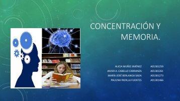 CONCENTRACIÓN Y MEMORIA.