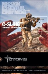 C-Sling™ Product Optimization Guide (click here) - ctoms
