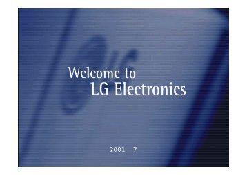 2001년 매출 예상 - LG전자