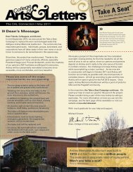 Updates on the Ardrey Renovation - College of Arts and Letters ...