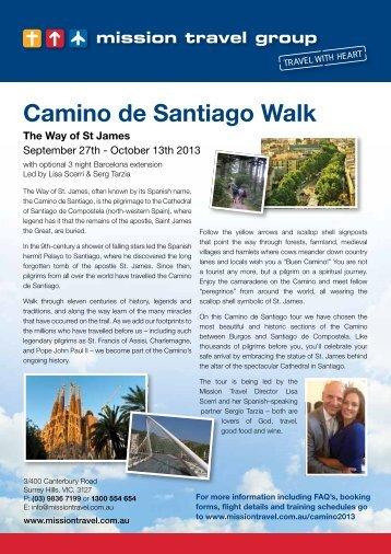 Camino de Santiago Walk - Mission Travel