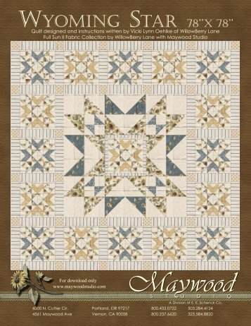 Wyoming Star by Maywood Studio - FabShop Hop