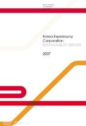 Korea Expressway Corporation 2007 CSR.pdf - Keck Science ...