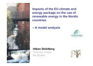 Renewable energy in the Nordic countries