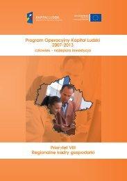 Program Operacyjny Kapitał Ludzki 2007-2013 - Mazowiecka ...