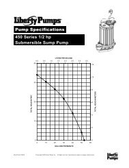 Pump Specifications 450 Series 1/2 hp Submersible ... - Pump Express