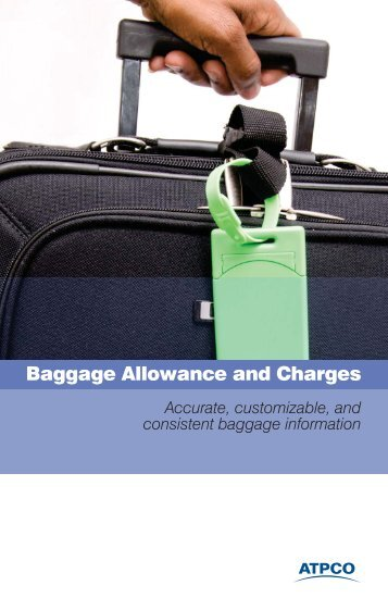 Baggage Allowance and Charges - atpco